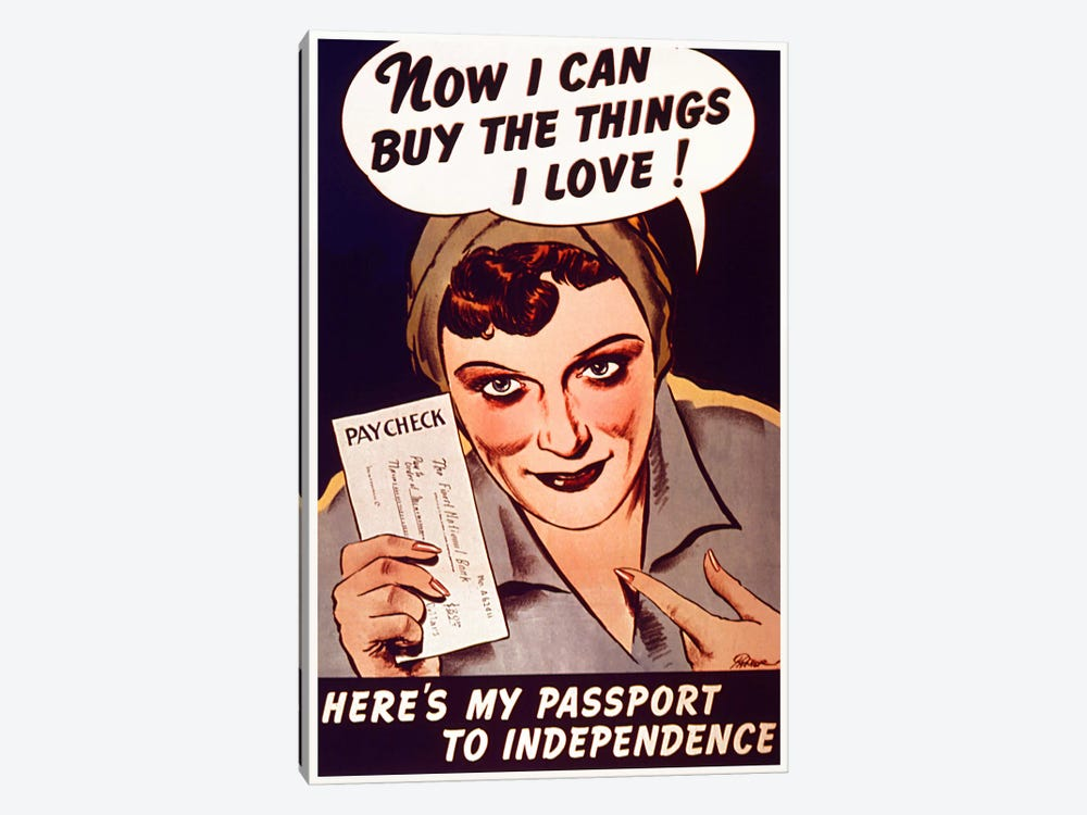 Can't Buy Me Love (Vintage Poster) 1-piece Canvas Artwork