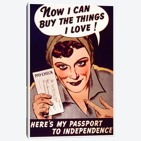 Can't Buy Me Love (Vintage Poster) Canvas Print #8822} by Unknown Artist Canvas Wall Art