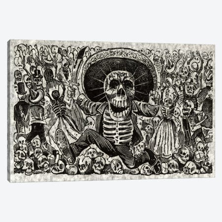 Skeletons - Calavera from Oaxaca Canvas Print #8824} by Jose Guadalupe Posada Art Print