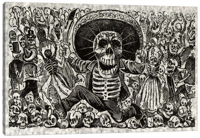Skeletons - Calavera from Oaxaca Canvas Print #8824