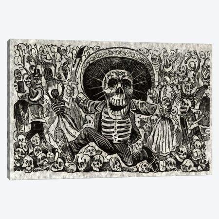 Skeletons - Calavera from Oaxaca Canvas Print #8824} by Jose Guadalupe Posada Art Print