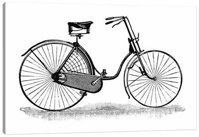 Ladies Safety Bicycle Vintage Poster Canvas Print #8835