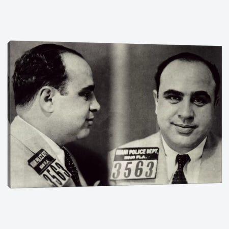 Alphonse Gabriel Al Capone Mugshot - Chicago Gangster Outlaw Canvas Print #8838} by Unknown Artist Art Print