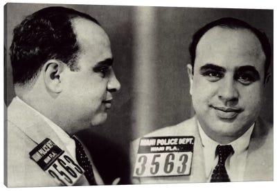 Alphonse Gabriel Al Capone Mugshot - Chicago Gangster Outlaw Canvas Art Print