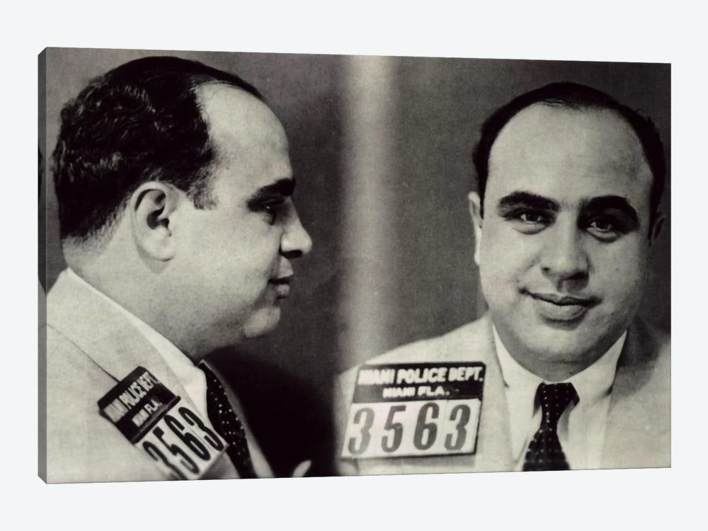 Alphonse Gabriel Al Capone Mugshot - Chicago Gangster Outlaw by Unknown Artist 1-piece Canvas Art Print