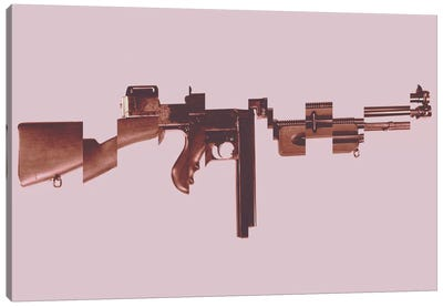 Gangster's Toy (Machine Gun) Canvas Art Print