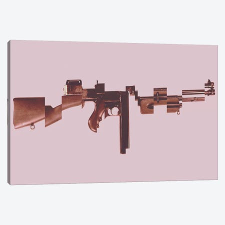 Gangster's Toy (Machine Gun) Canvas Print #8839} by Unknown Artist Canvas Art Print