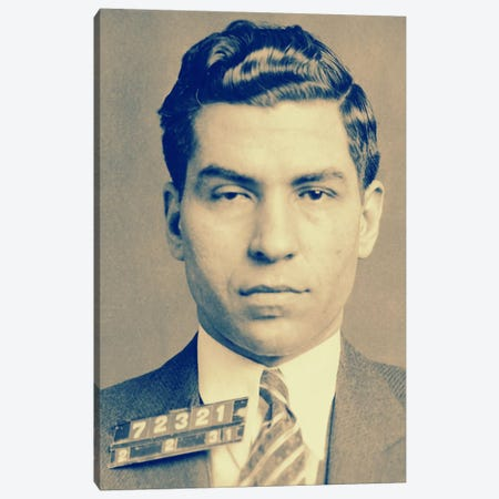 "Charlie ""Lucky"" Luciano - Gangster Mugshot Canvas Print #8840} by Unknown Artist Canvas Wall Art"