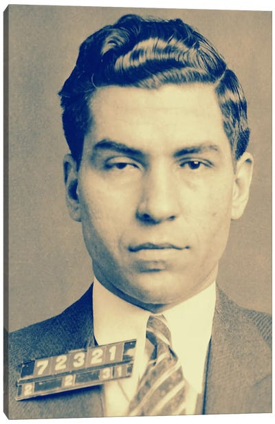 """Charlie """"Lucky"""" Luciano - Gangster Mugshot Canvas Print #8840"""