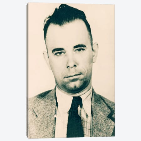 John Dillinger - Gangster Mugshot Canvas Print #8841} by Unknown Artist Canvas Art