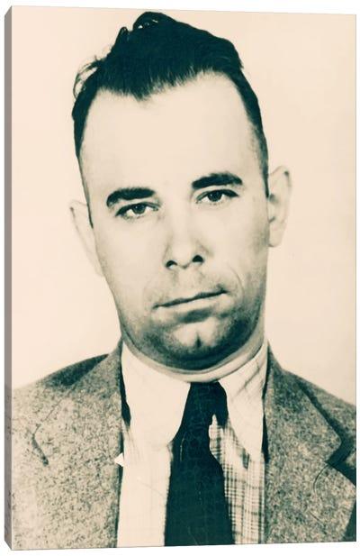 John Dillinger - Gangster Mugshot Canvas Art Print