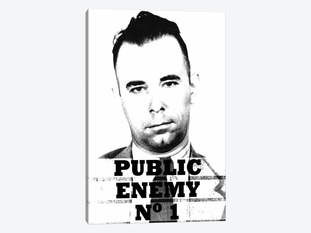 John Dillinger; Public Enemy Number 1 - Gangster Mugshot by iCanvas 1-piece Canvas Art