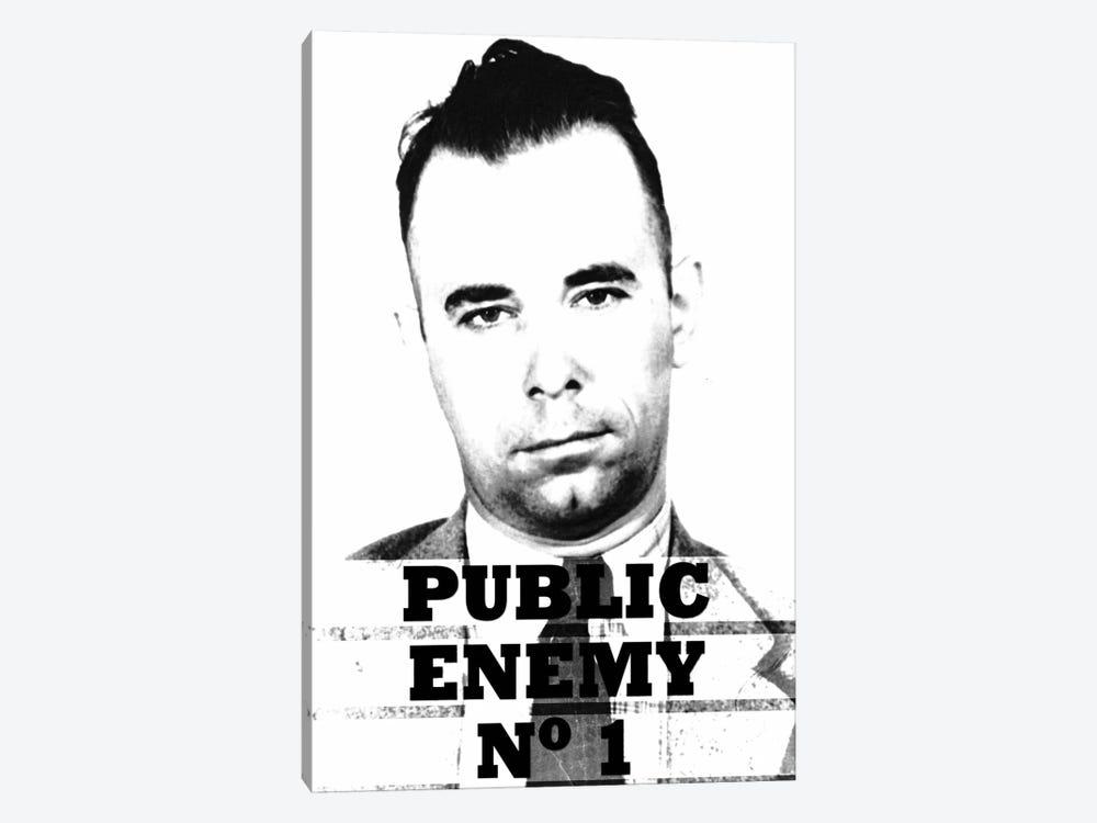 John Dillinger; Public Enemy Number 1 - Gangster Mugshot by Unknown Artist 1-piece Canvas Art