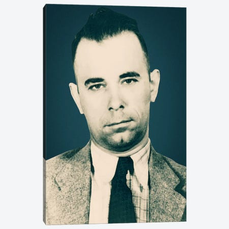 John Dillinger (1903-1934)- Gangster Mugshot Canvas Print #8843} by Unknown Artist Canvas Artwork