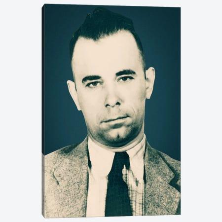 John Dillinger (1903-1934)- Gangster Mugshot Canvas Print #8843} by Unknown Artist Canvas Artwork