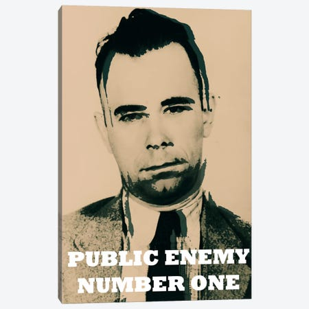 John Dillinger (1903-1934); Public Enemy Number 1 - Gangster Mugshot Canvas Print #8844} by iCanvas Art Print