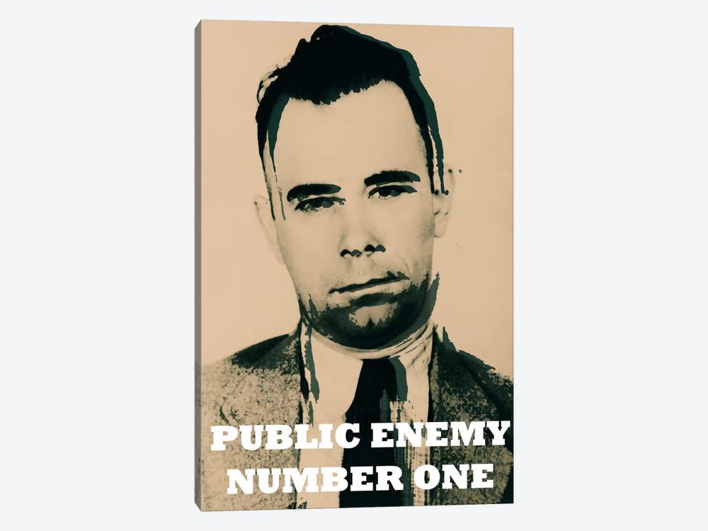 John Dillinger (1903-1934); Public Enemy Number 1 - Gangster Mugshot by Unknown Artist 1-piece Canvas Art