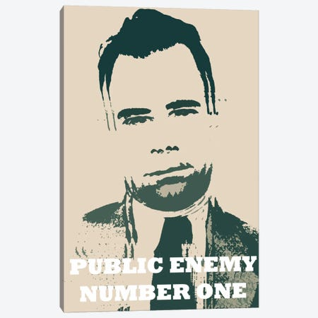 John Dillinger (1903-1934) - Blurry Look; Public Enemy Number 1 - Gangster Mugshot Canvas Print #8845} by iCanvas Art Print