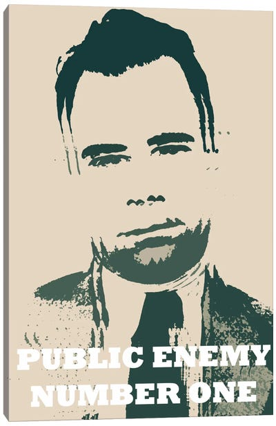 John Dillinger (1903-1934) - Blurry Look; Public Enemy Number 1 - Gangster Mugshot Canvas Art Print