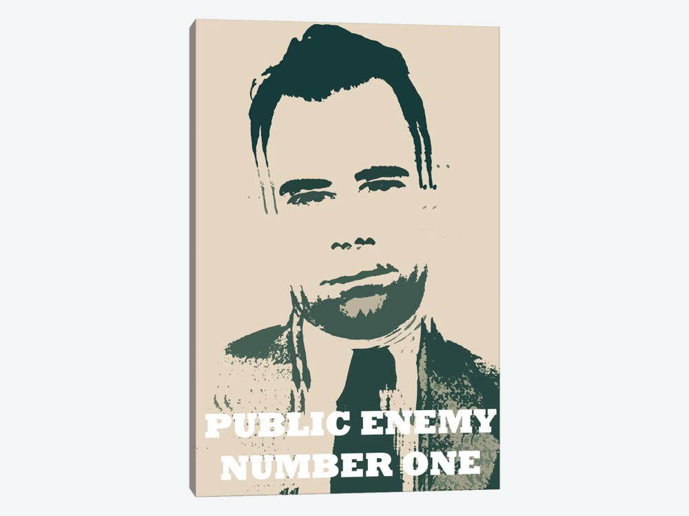John Dillinger (1903-1934) - Blurry Look; Public Enemy Number 1 - Gangster Mugshot by iCanvas 1-piece Canvas Art Print