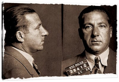 Frank Costello - Gangster Mugshot Canvas Art Print