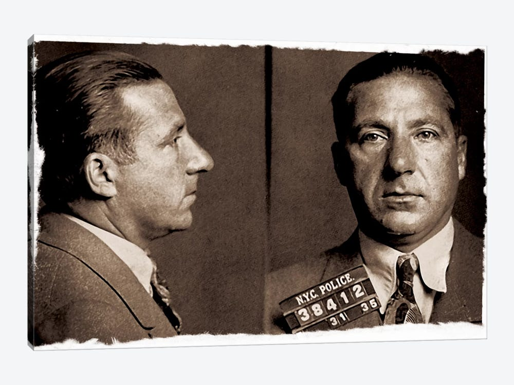 Frank Costello - Gangster Mugshot by Unknown Artist 1-piece Canvas Art