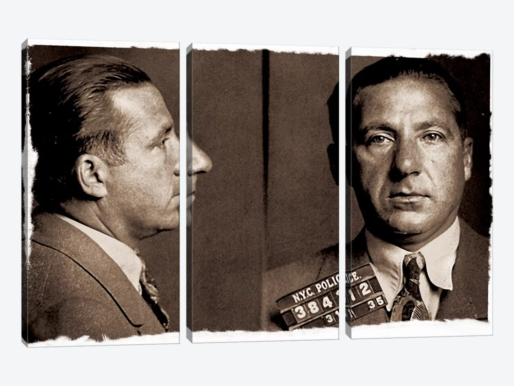 Frank Costello - Gangster Mugshot by iCanvas 3-piece Canvas Artwork
