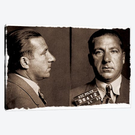 Frank Costello - Gangster Mugshot Canvas Print #8846} by Unknown Artist Canvas Print