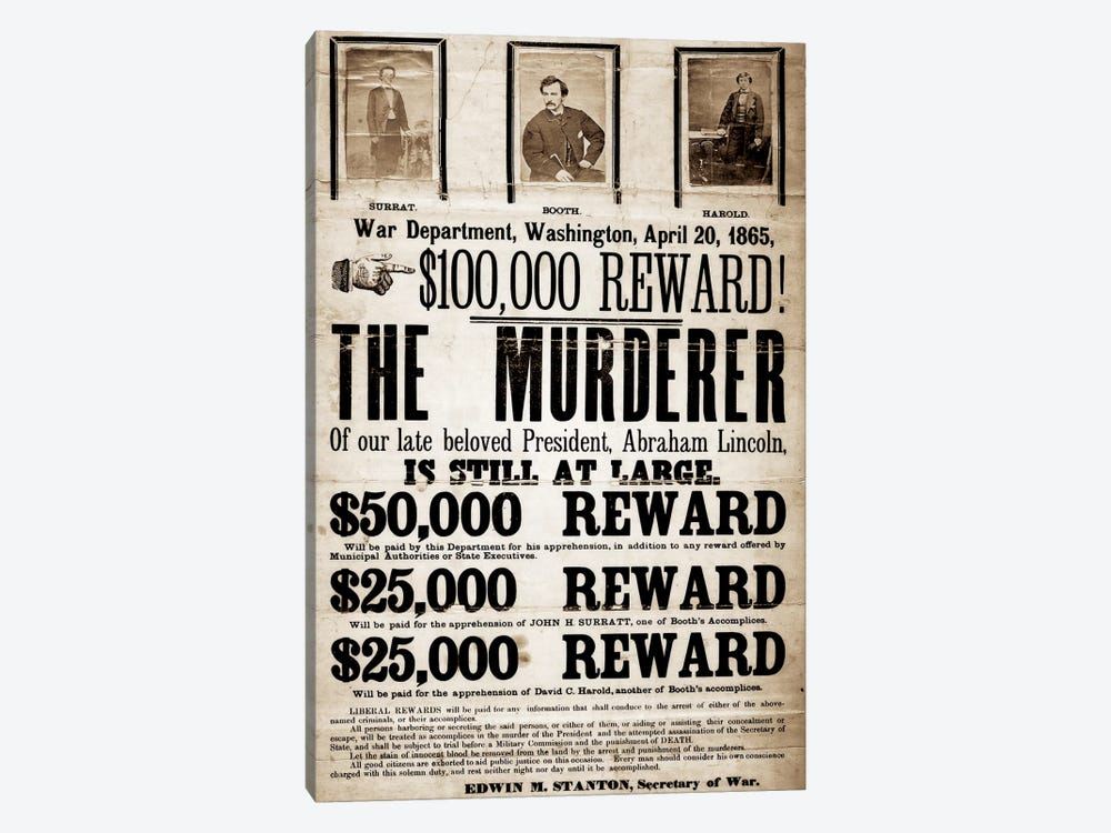 Dead or Alive - Murderer Wanted by Unknown Artist 1-piece Art Print