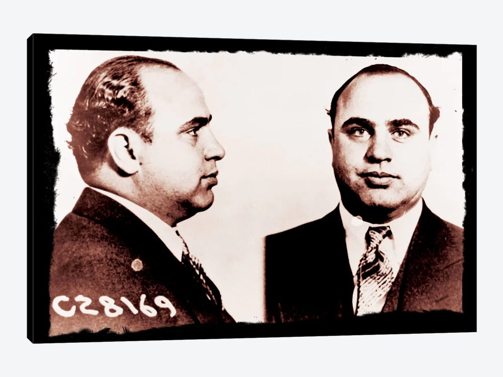 Alphonse Gabriel Al Capone Mugshot 2 - Chicago Gangster Outlaw by iCanvas 1-piece Canvas Wall Art