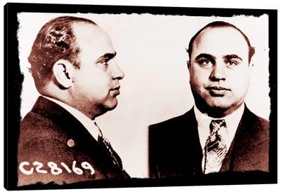 Alphonse Gabriel Al Capone Mugshot 2 - Chicago Gangster Outlaw Canvas Art Print
