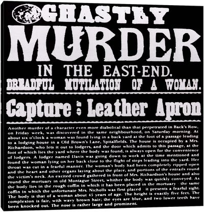 Ghastly Murder in The East-End Canvas Art Print