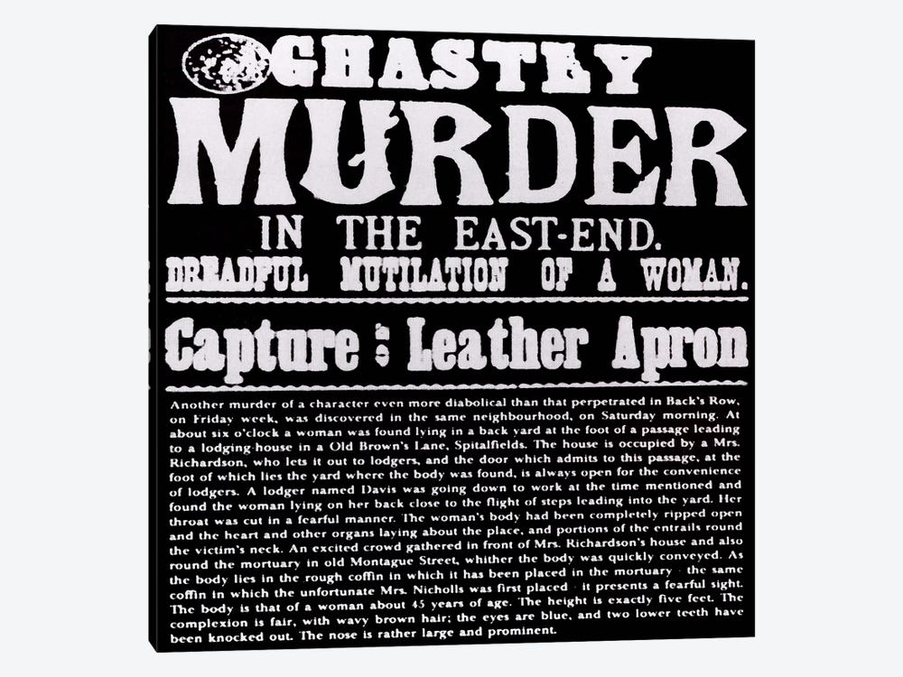 Ghastly Murder in The East-End by iCanvas 1-piece Art Print
