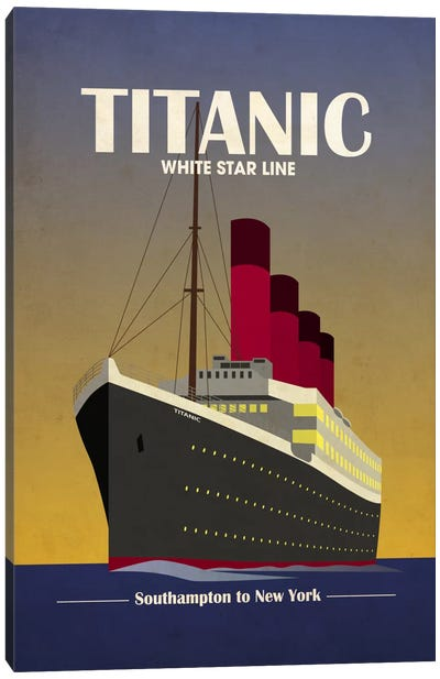 Titanic Ocean Liner Art Deco Canvas Print #8858