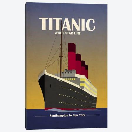 Titanic Ocean Liner Art Deco Canvas Print #8858} by Michael Tompsett Canvas Art Print