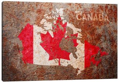 Canada Flag Map Canvas Art Print