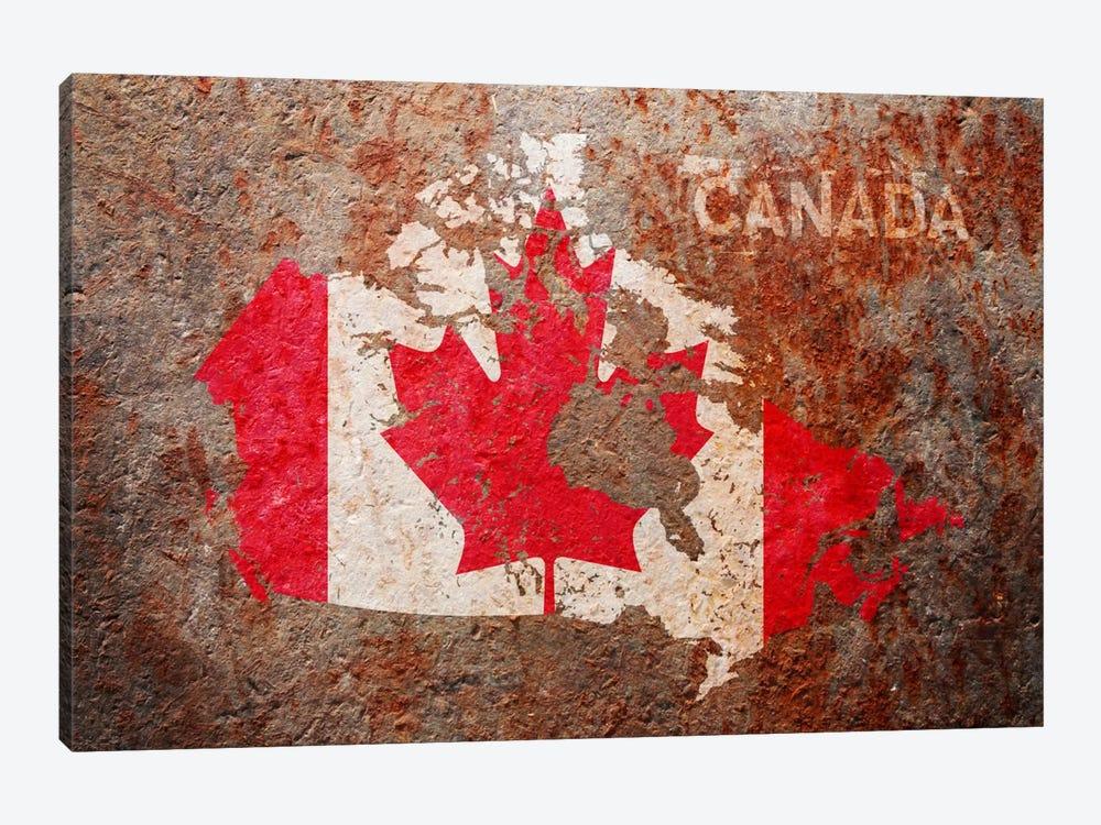 Canada Flag Map by Michael Tompsett 1-piece Canvas Print