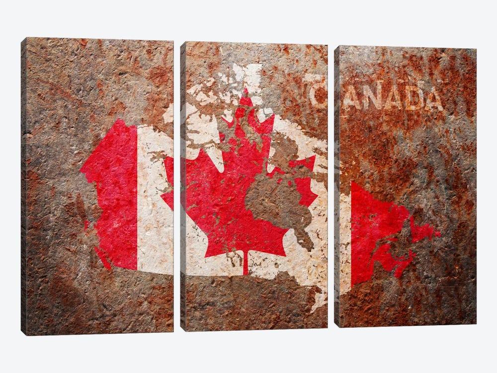 Canada Flag Map by Michael Tompsett 3-piece Art Print