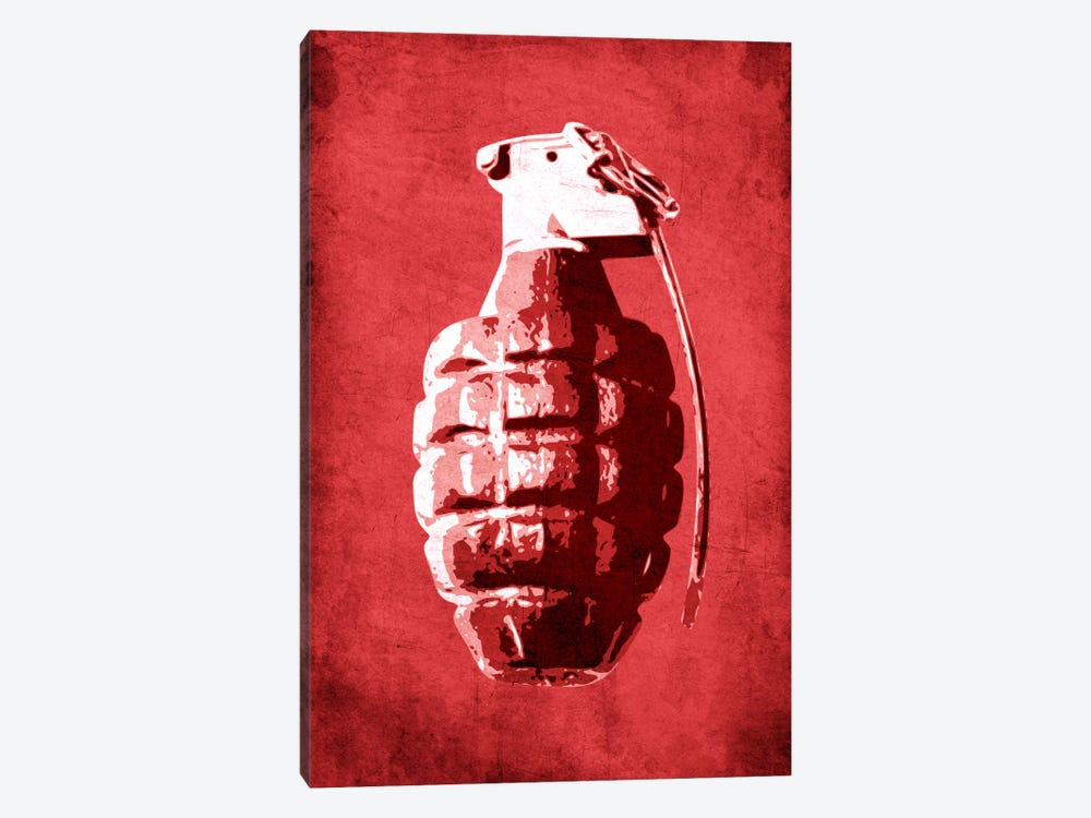 Hand Grenade (Red) 1-piece Canvas Wall Art