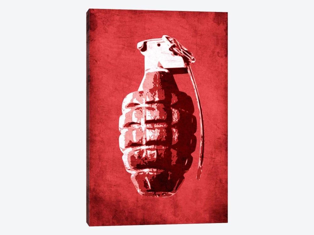 Hand Grenade (Red) by Michael Tompsett 1-piece Canvas Wall Art