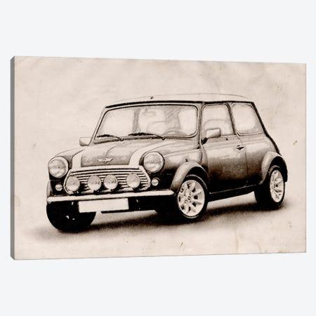 Mini Cooper Sketch Canvas Print #8869} by Michael Tompsett Canvas Art