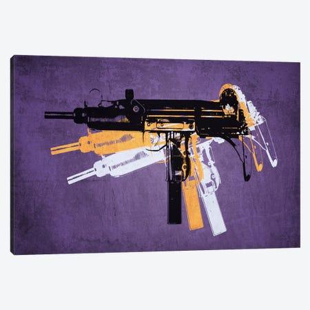 Uzi Sub Machine Gun on Purple Canvas Print #8870} by Michael Tompsett Canvas Art Print