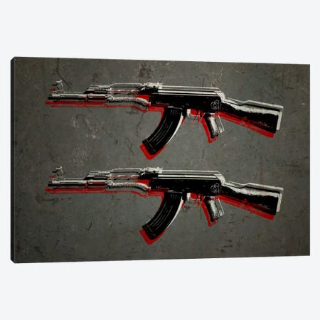 AK47 Assault Rifle Canvas Print #8871} by Michael Tompsett Art Print
