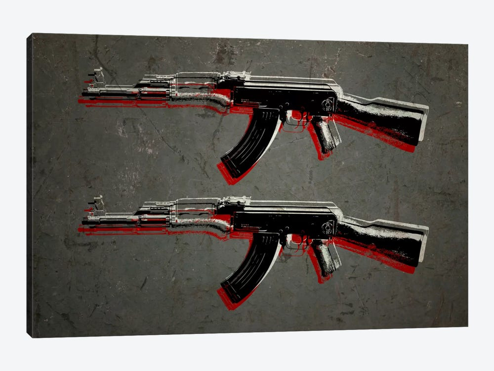 AK47 Assault Rifle by Michael Tompsett 1-piece Canvas Wall Art