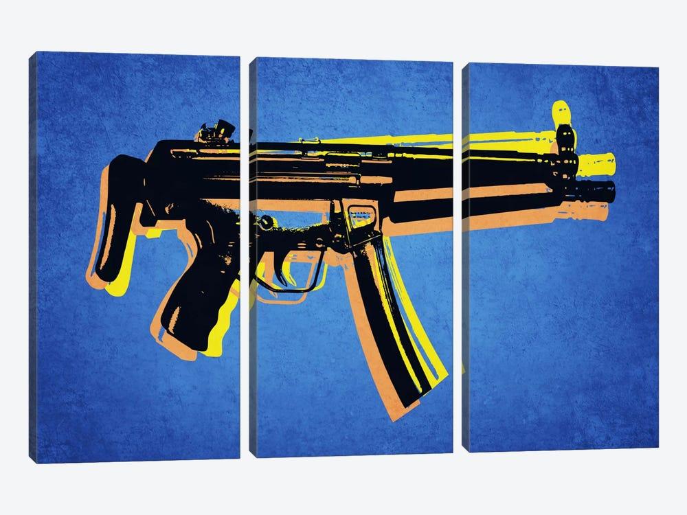 MP5 Sub Machine Gun by Michael Tompsett 3-piece Art Print