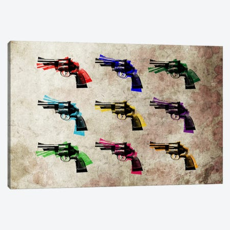 Nine Revolvers Canvas Print #8873} by Michael Tompsett Art Print