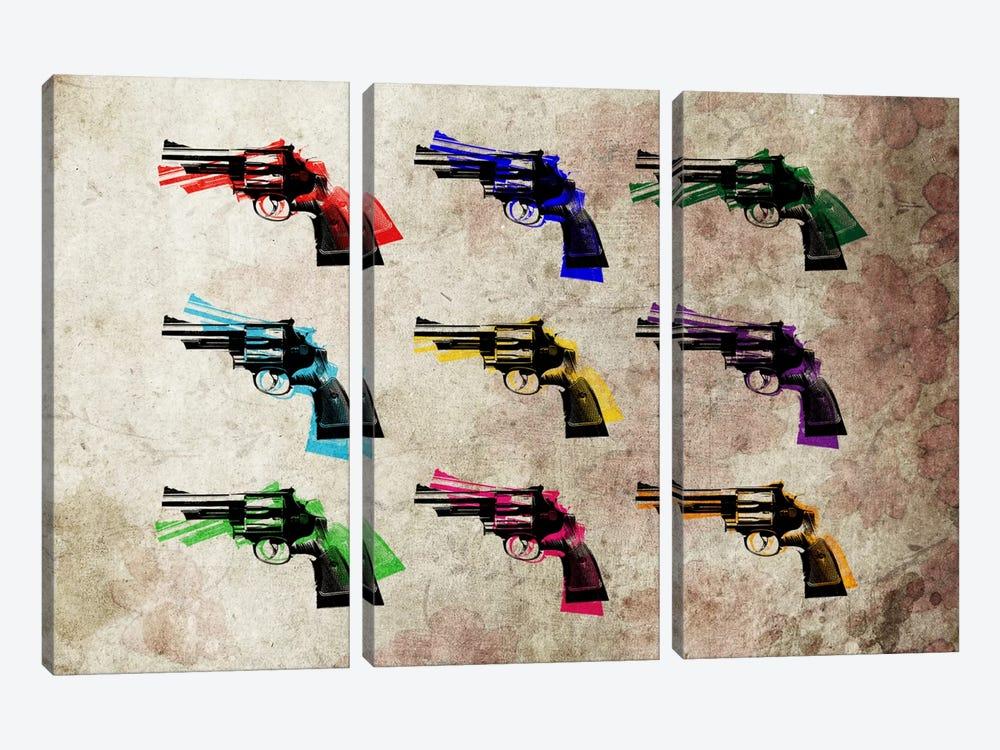 Nine Revolvers by Michael Tompsett 3-piece Canvas Art