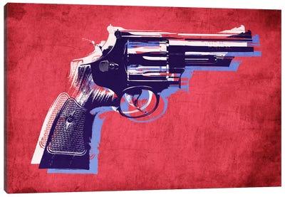 Revolver (Magnum) on Red Canvas Print #8874