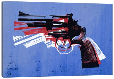 Revolver (Magnum) on Blue Canvas Print #8875