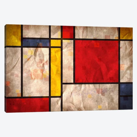 Mondrian Inspired Canvas Print #8876} by Michael Tompsett Canvas Artwork